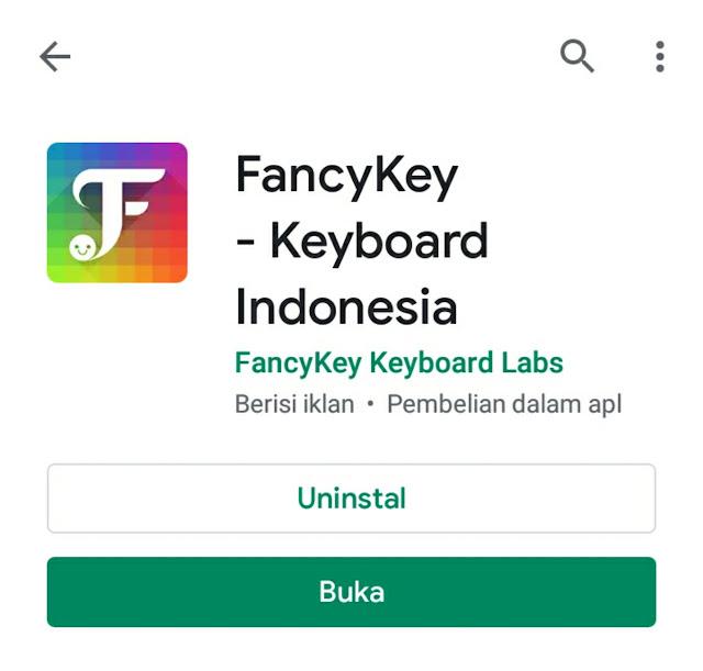 aplikasi  fancy key pembuat nickname keren