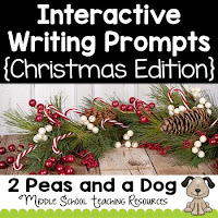 Free Interactive Christmas Writing Prompts from 2 Peas and a Dog.