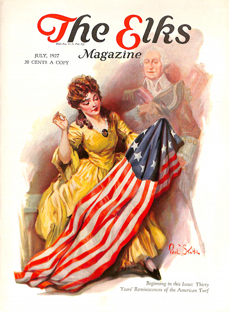 July 1927 cover for The Elks magazine by Paul Stahr