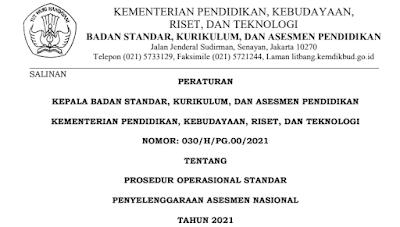 Download POS AN Asesmen Nasional PDF Tahun 2021