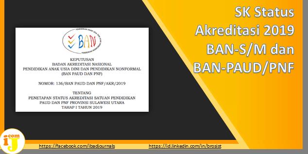 SK Status Akreditasi 2019 BAN-S/M dan BAN PAUD-PNF