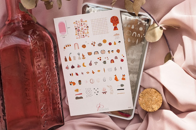 Autumn Trails clear jelly stamper