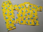 Jual Piyama Dan Baju Tidur Anak Size S Usia 5-6 tahun Minion Kuning