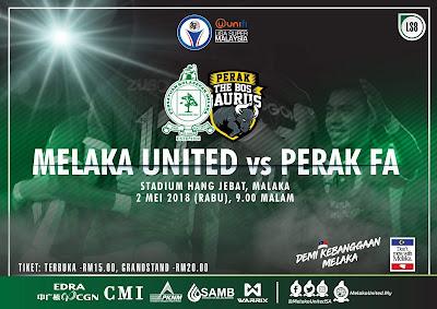 Live Streaming Melaka United vs Perak Liga Super 2 Mei 2018