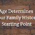 Your Age Decides Your Family History Starting Point