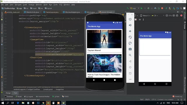 The movi app || JSON Parsing in Android using Retrofit2 || android retrofit get json example