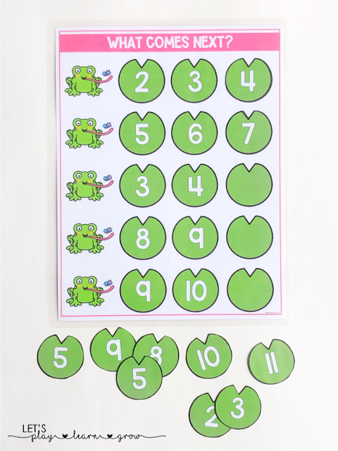What Comes Next Number Sequencing: Spring Activity Binder