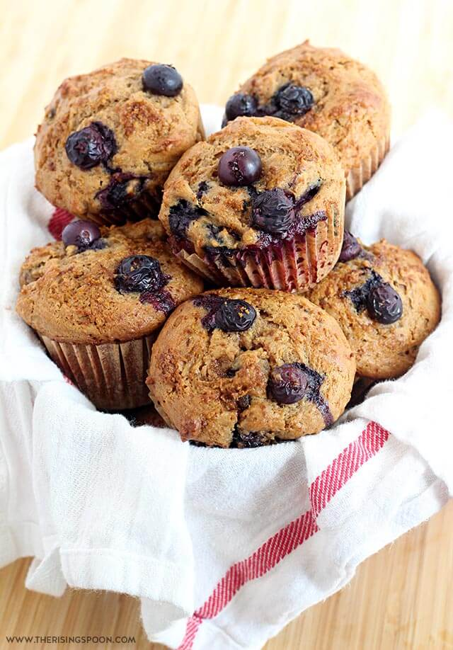 Moist Blueberry Sour Cream Muffins (with Gluten-Free Option)