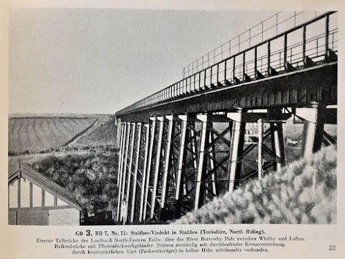 German WW2 photograph of Staithes Viaduct