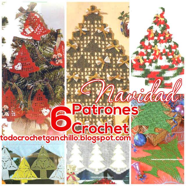6 patrones de pino de navidad para tejer al crochet