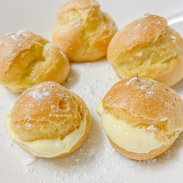 Ini Cara Buat Dan Resepi Cream Puff Yang Gemuk Dan Sedap