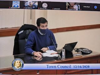 newly elected Town Councilor Cobi Frongillo