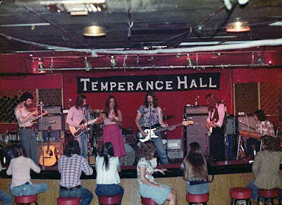 The Arrow Lounge with the band Temperance Hall on stage