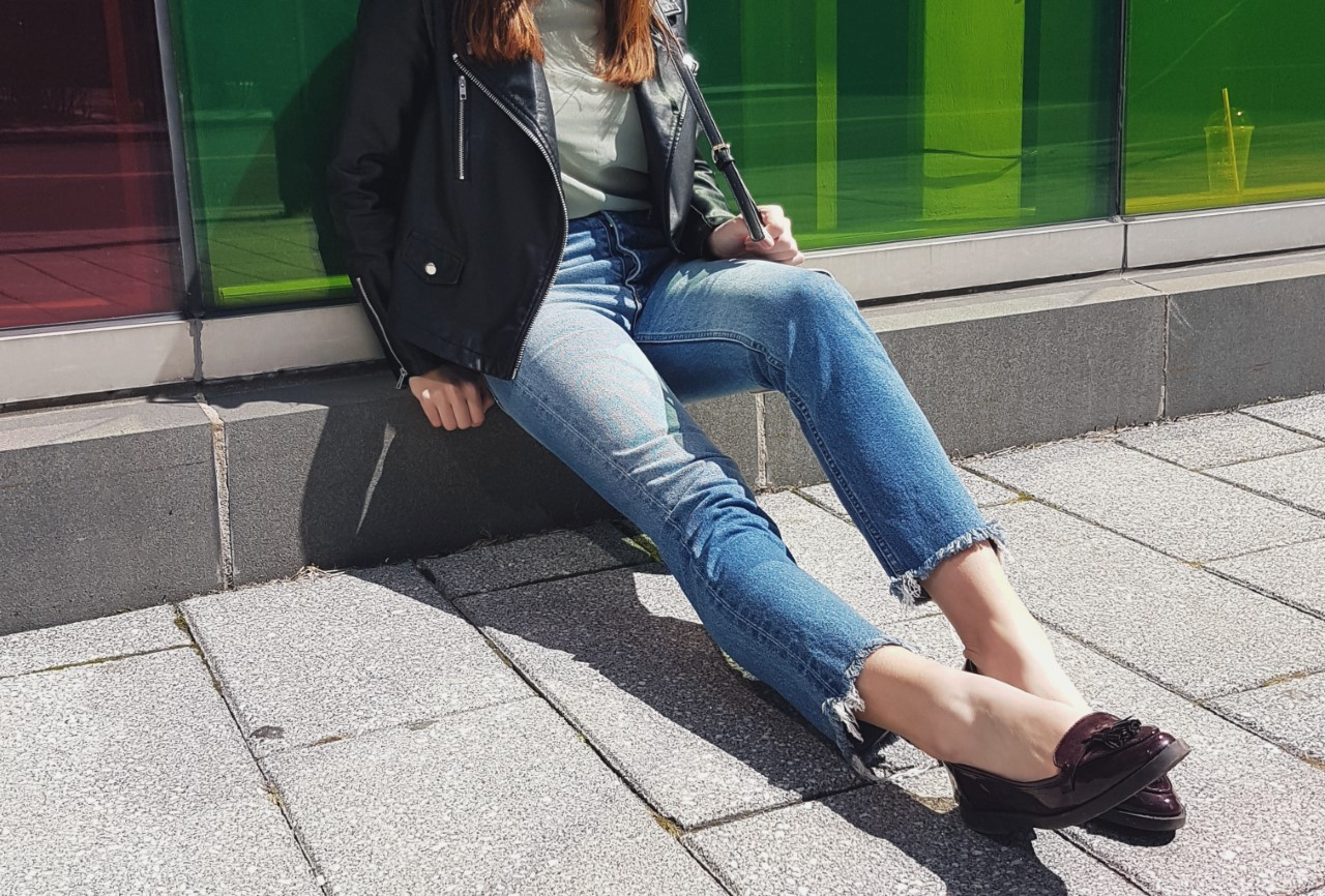 Montreal, Spring, Style, Leather Jacket, Denim, H&M