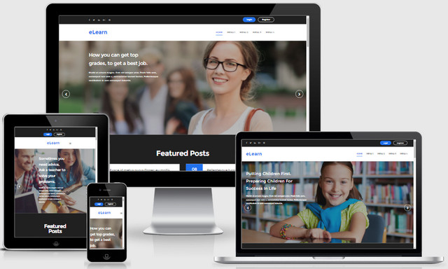 eLearn Responsive Blogger Templates