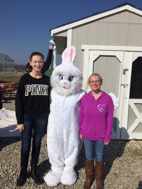 Volunteering for Easter Egg Hunt
