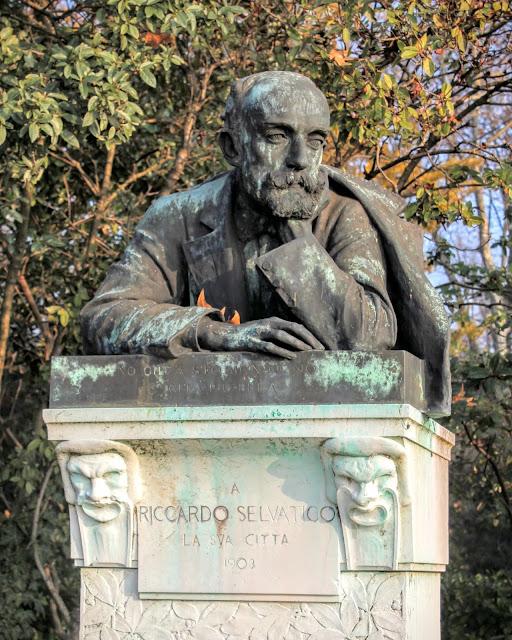 Statue of Riccardo Selvatico, I Giardini Pubblici, Venice