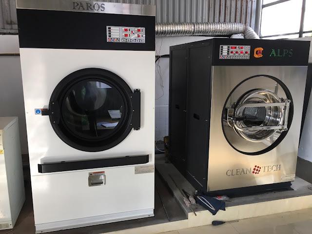 lắp đặt máy giặt công nghiệp
