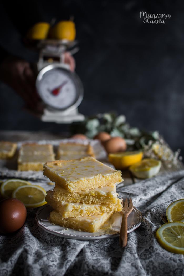 Brownies de limón. Receta muy fácil.