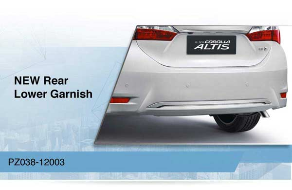 accessories all new corolla altis