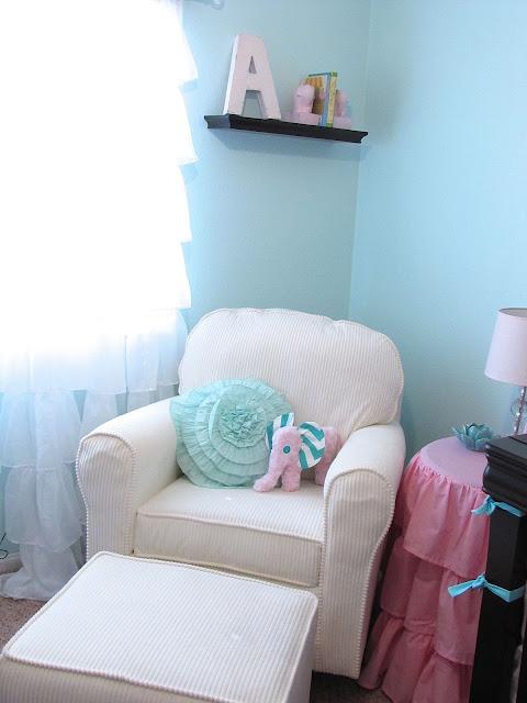 pink and aqua nursery ideas