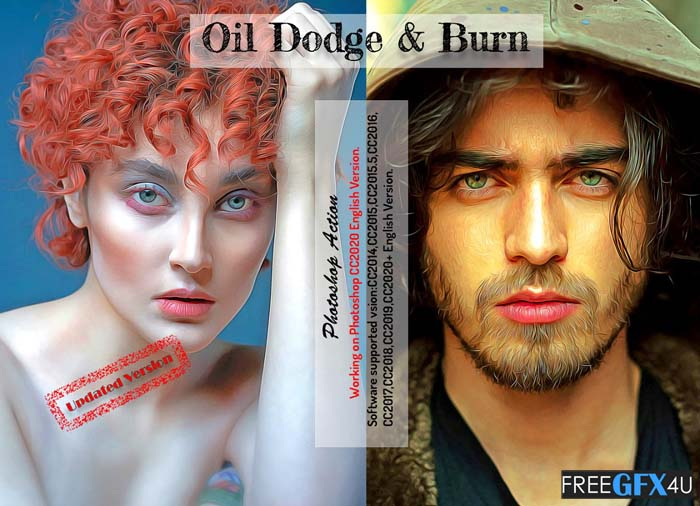 Oil Dodge & Burn PS Action