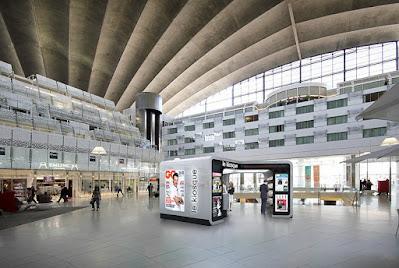 Perspective 3d kiosque designer Ora-Ito La Défense