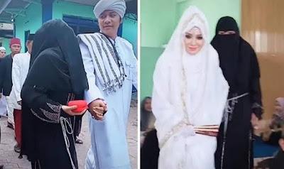 viral istri mengantar suami menikah lagi