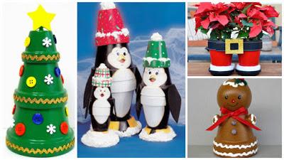 muñeco-nieve-macetas