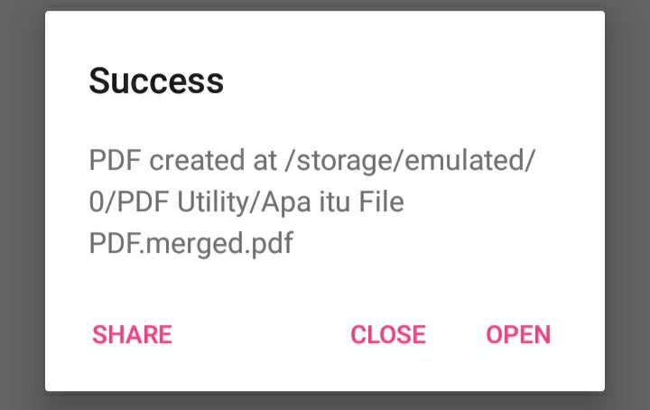 File PDF yang Berhasil Digabungkan Menggunakan PDF Utility