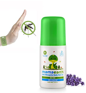 Mamaearth Natural Anti Mosquito Body Roll On to Protects yourself from Dengue, Malaria & Chikungunya