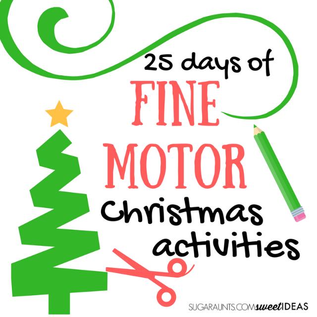 Fine Motor Christmas Activites