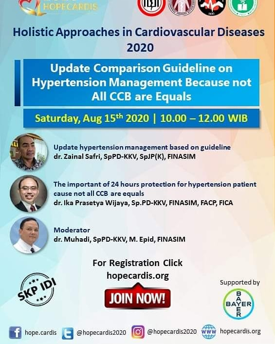 "Free SKP IDI Hopecardis Virtual Meeting 2020  ""Holistic Approach in Cardiovascular Disease"""