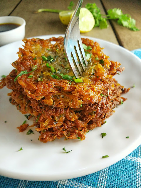 Navratri Potato Pancakes | Easy Vegan Latkes