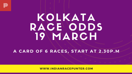 Kolkata Race Odds 19 March