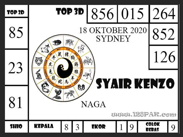 Kode syair Sydney Minggu 18 Oktober 2020 173