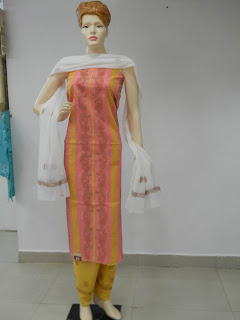 Lucknowi Chikan Cotton Dress Material