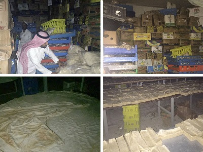 Source: MCI. Ramadhan foods unfit for human consumption were found in Jeddah.