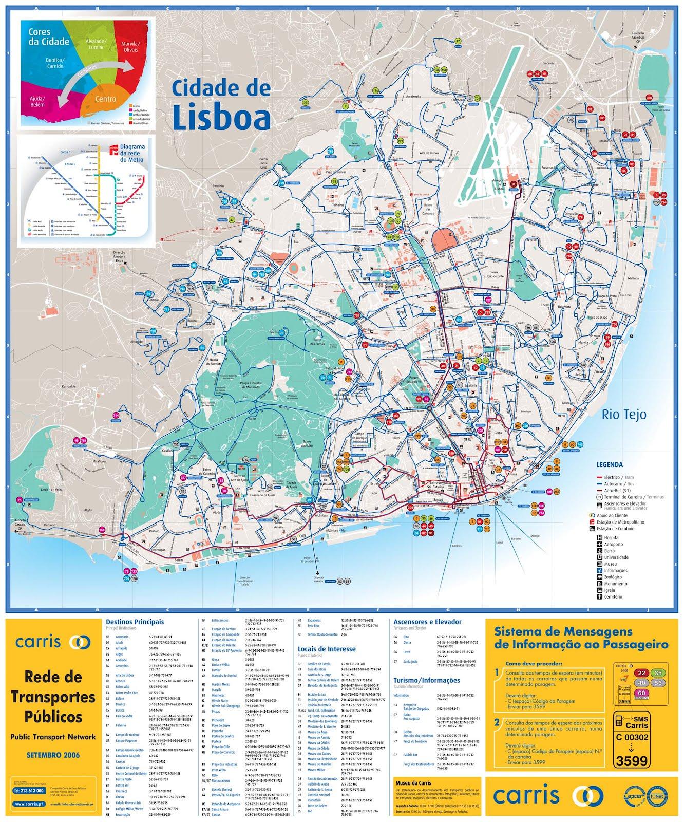 mapa de lisboa e arredores Mapas de Lisboa   Portugal | MapasBlog mapa de lisboa e arredores