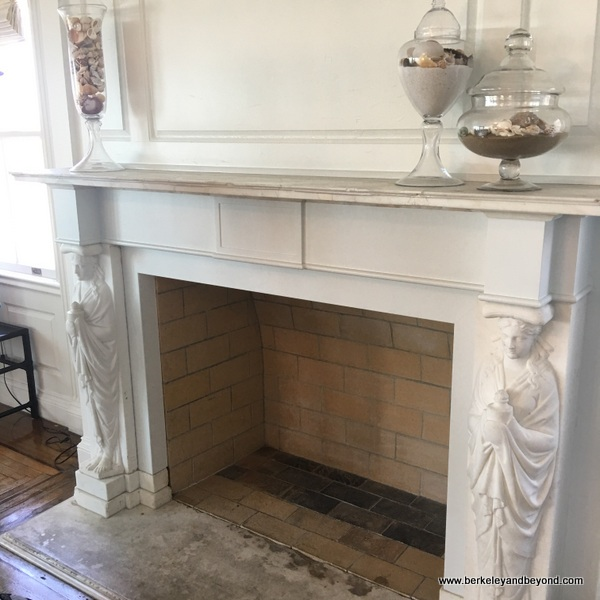 fireplace designed by Julia Morgan at Marion Davies Guest House at Annenberg Community Beach House in Santa Monica, California
