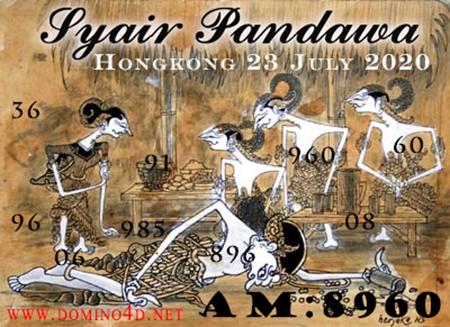 Syair Pandawa HK Kamis 23 Juli 2020