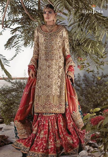 asim Jofa Bridal dress gharara shirt