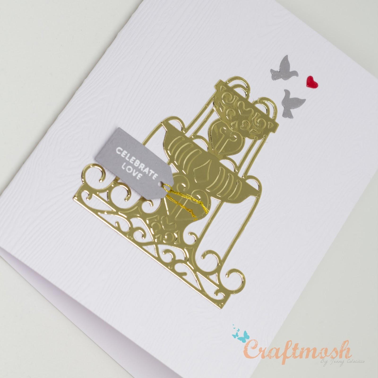 Spellbinders Wedding Card