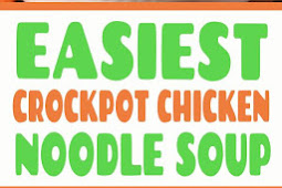 Easy CrockPot Chicken Noodle Soup #easy #chicken #noodle #soup #crockpot #slowcooker
