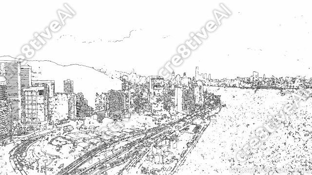 街並み_線画3