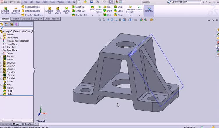 Drawings Using Basic Commands For Drawing 2D. Solidworks