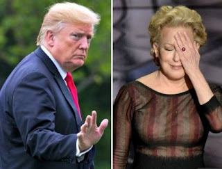 President Trump calls actress Bette Midler a 'washed up psycho'