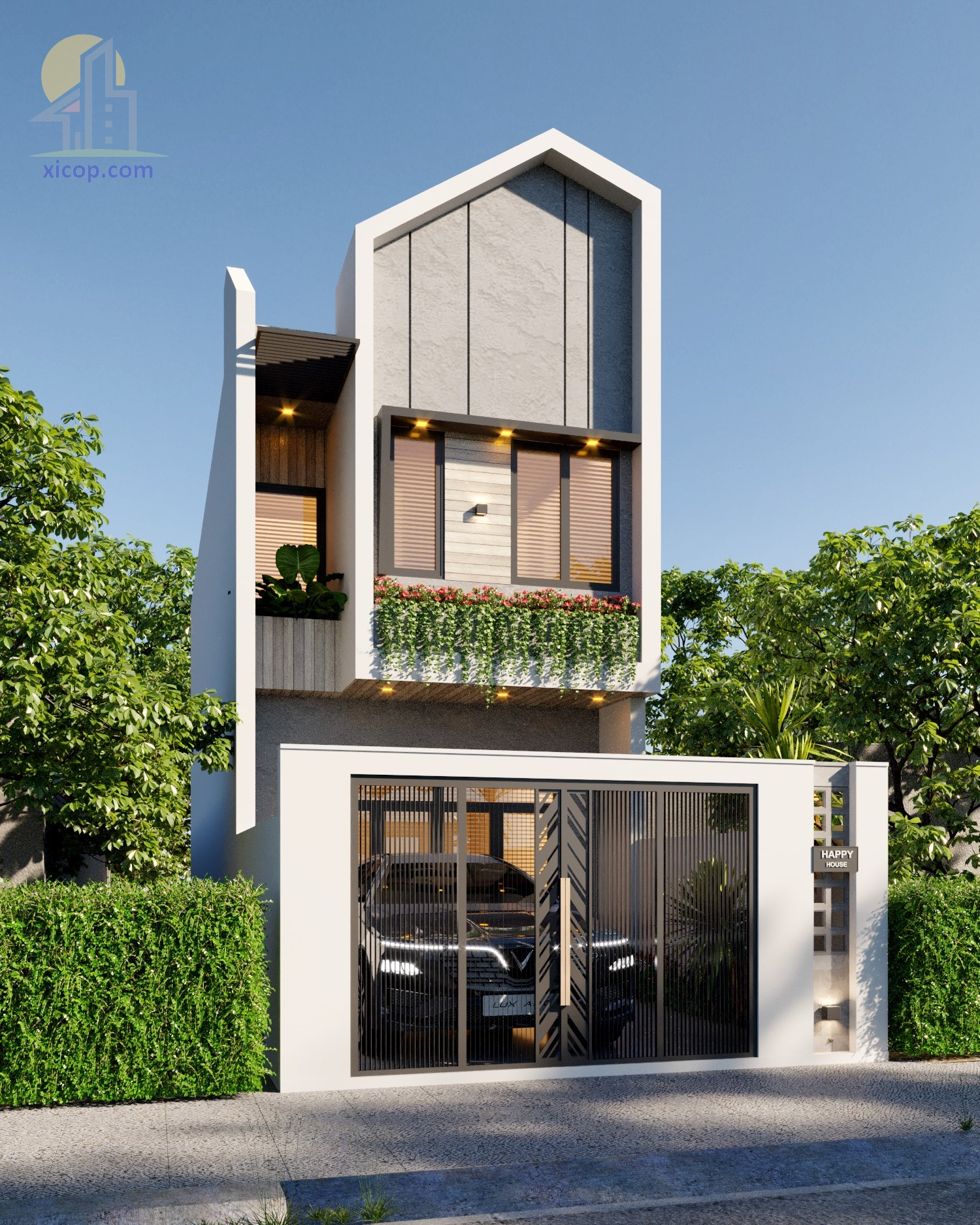 Mẫu nhà phố 3 tầng đẹp các thiết kế hiện đại mặt tiền đẹp