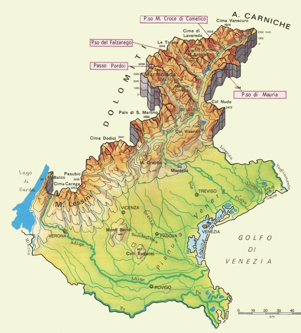 Regione Veneto Cartina Geografica Politica Pieterduisenberg