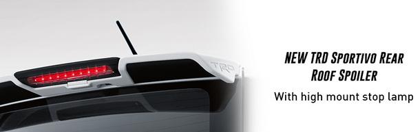 New TRD Sportivo rear roof spoiler